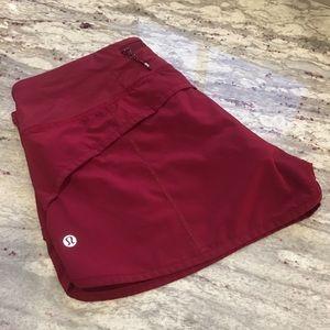 Lululemon red maroon shorts